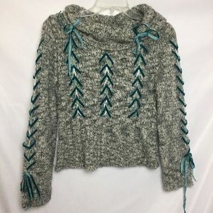 Sleeping On Snow Lace Ribbon Sweater